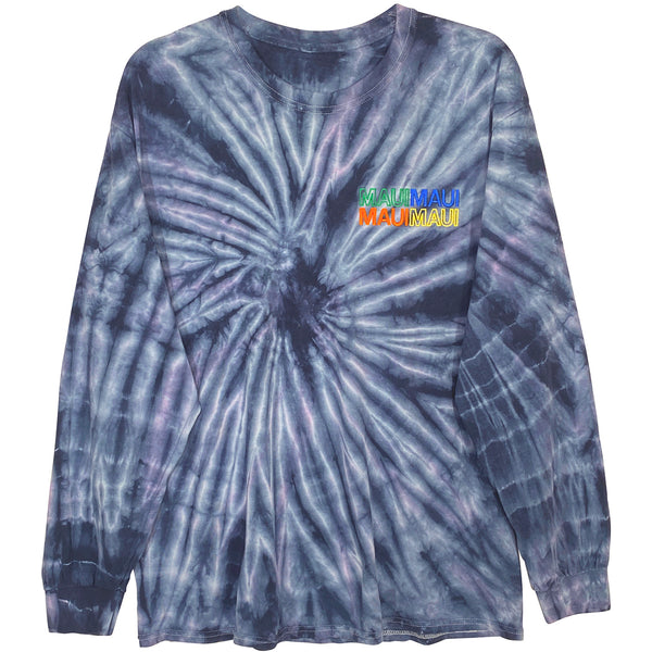 MAUI TIE DYE LONG SLEEVE TEE - L