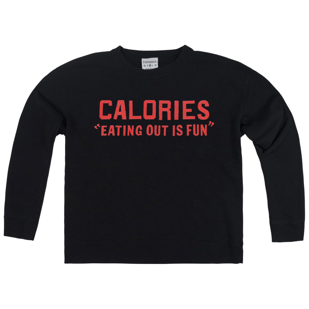 CALORIES FRENCH TERRY BOX SWEATSHIRT