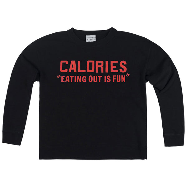 RXMANCE CALORIES FRENCH TERRY BOX SWEATSHIRT