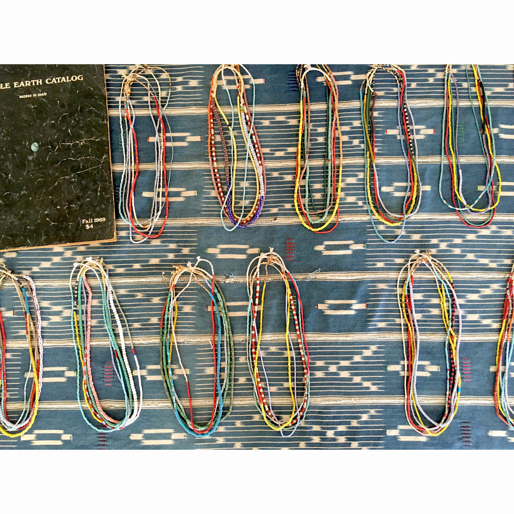 TEN AFRICAN BEAD STRINGS