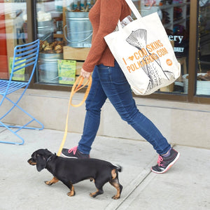 Polkadog Canvas Tote Bag