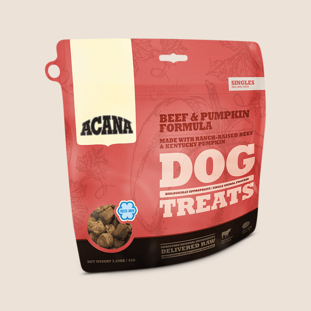 Acana Treats 1.25 oz. Acana Singles Dog Treats - Beef & Pumpkin Formula