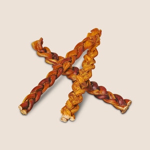Red Barn Naturals Braided Bully Sticks or Beef Pizzle Dog Treats