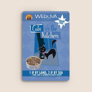 Cats in the Kitchen Cat Food Can Cats in the Kitchen 1 If By Land, 2 If By Sea 3 Ounce Pouch
