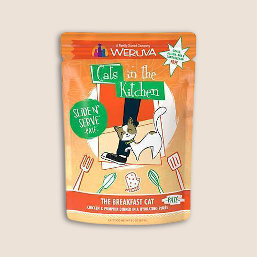 Cats in the Kitchen Cat Food Can 3.2oz - Case of 6 Cats in the Kitchen The Breakfast Cat 3 Ounce Pouch