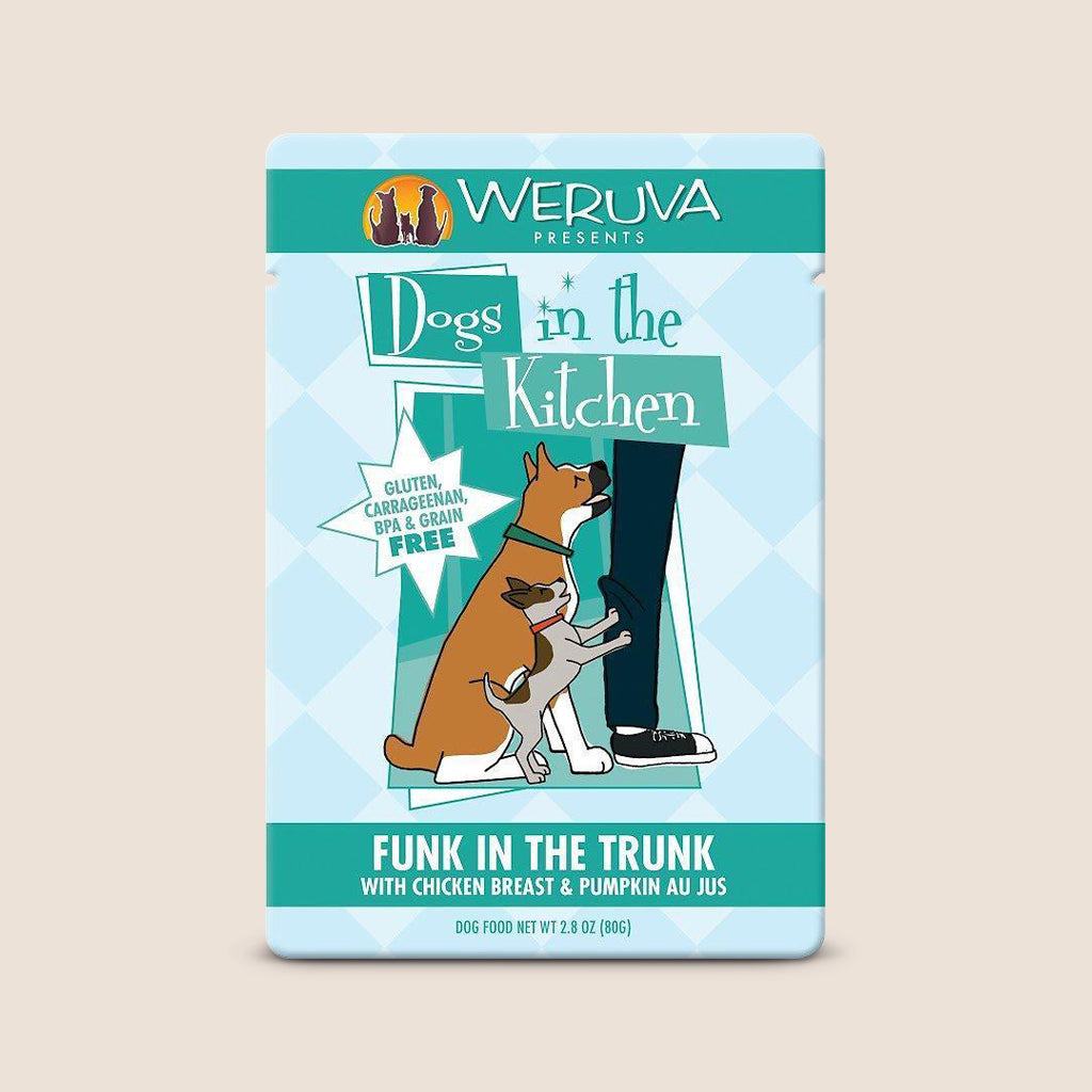 Weruva Canned Dog Food Dogs in the Kitchen Funk in the Trunk Pouch