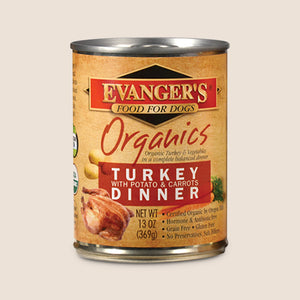Evanger's Canned Dog Food Evanger's Organic Turkey Dinner with Potatoes and Carrots