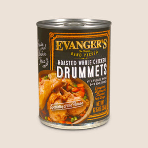 Evanger's Canned Dog Food Evanger's Roasted Whole Chicken Drummets