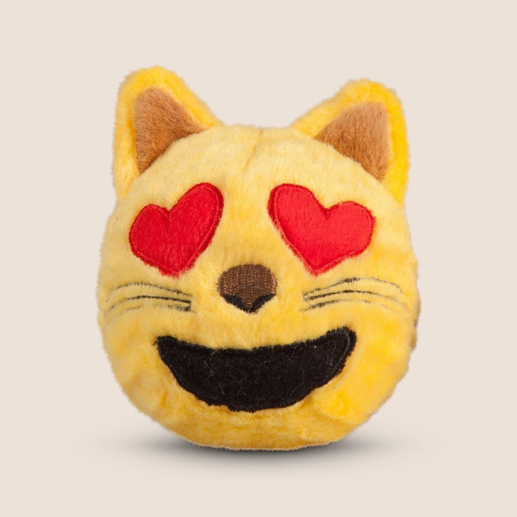 FabDog dog toy Fabdog Faballs Cat Heart Eyes