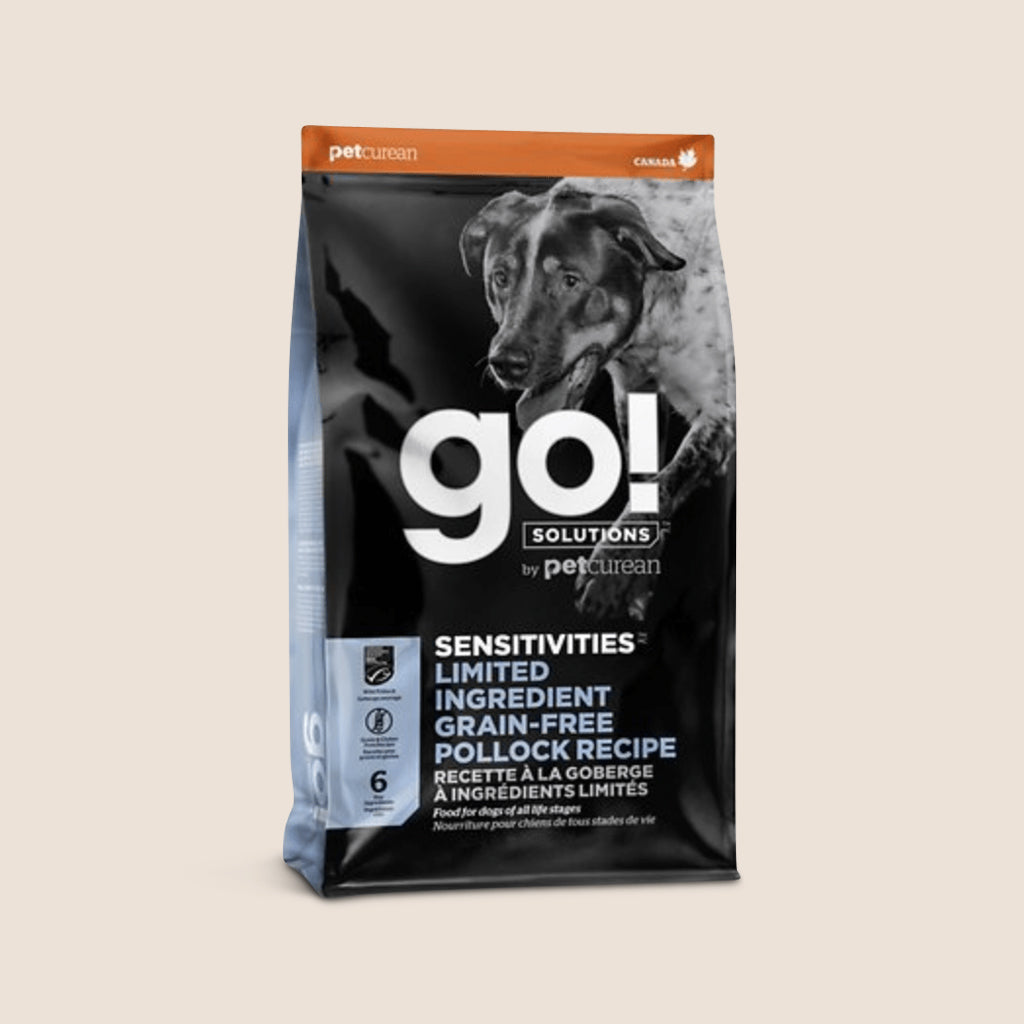 Petcurean Dry Dog Food Go! Sensitivity + Shine Grain-Free Limited Ingredient Pollock Recipe