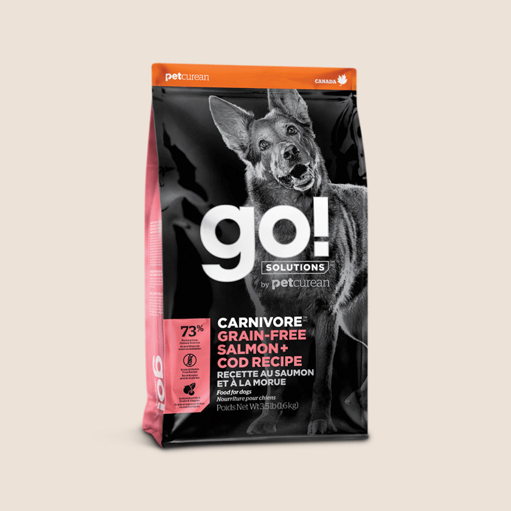 Petcurean GO! Solutions Carnivore - Grain Free Salmon + Cod Recipe - Petcurean