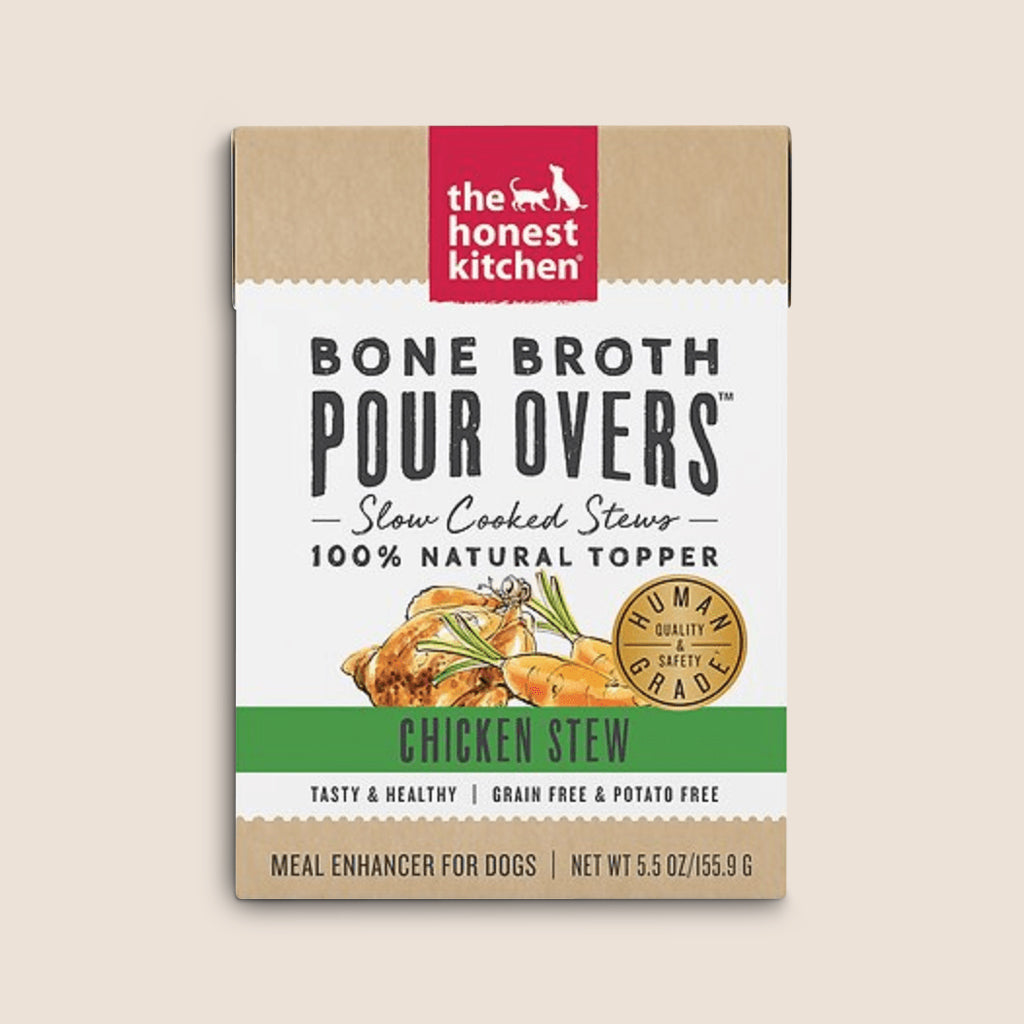Honest Kitchen Canned Dog Food Honest Kitchen Bone Broth Chicken Stew Pour Overs - Case of 12