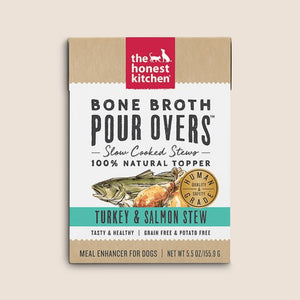 Honest Kitchen Canned Dog Food Honest Kitchen Bone Broth Turkey & Salmon Stew Pour Overs