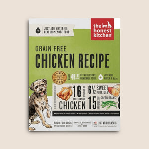 Honest Kitchen Raw Dog Food Honest Kitchen Grain Free Dehydrated Chicken Recipe Dog Food