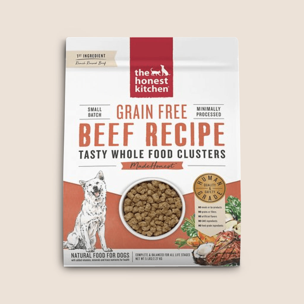 Honest Kitchen Dry Dog Food Honest Kitchen Grain Free Tasty Whole Food Clusters Beef Recipe