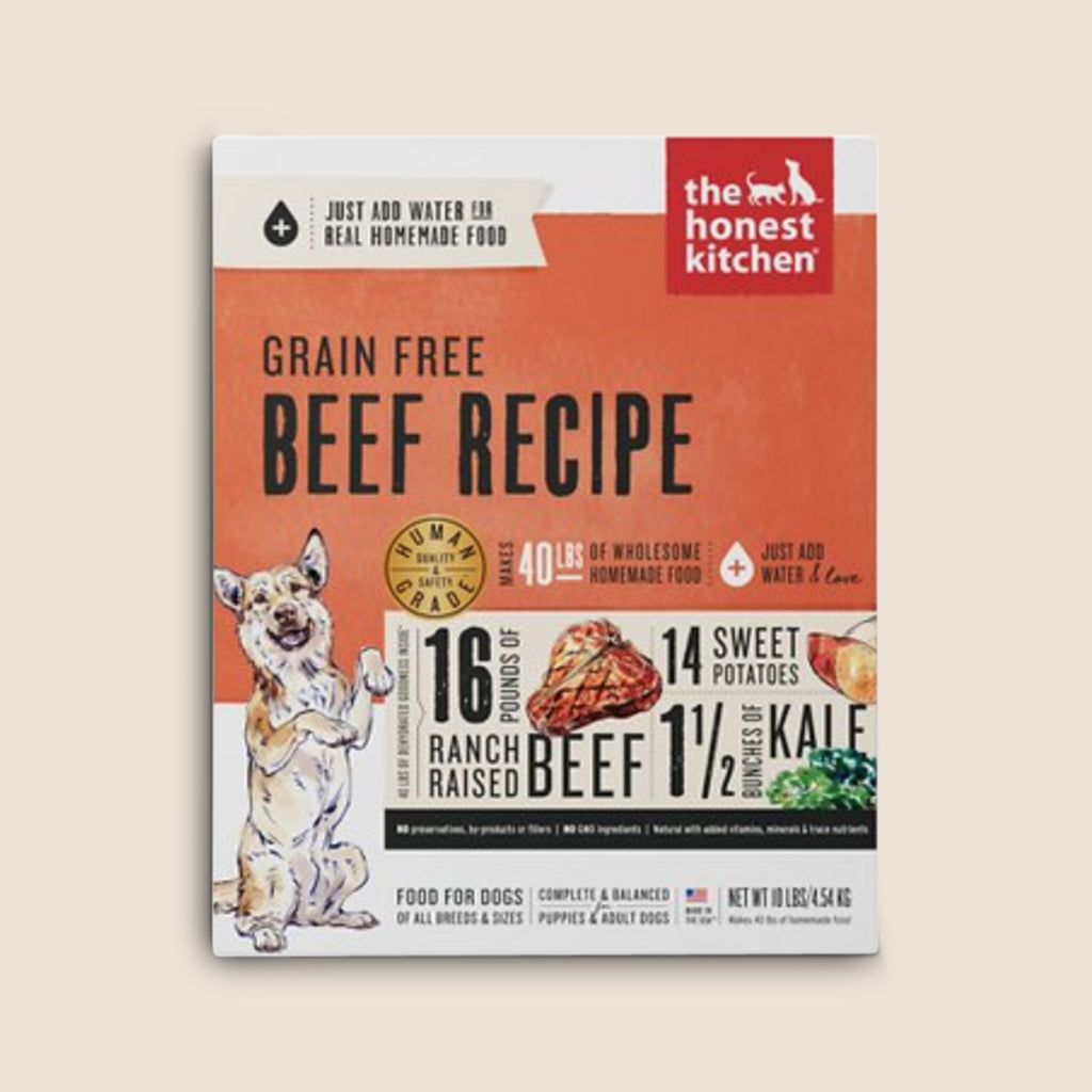 Honest Kitchen Raw Dog Food Honest Kitchen Grain Free Dehydrated Beef Recipe Dog Food