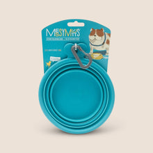 Load image into Gallery viewer, Messy Mutts Accessories Teal Messy Mutts Collapsible Bowl
