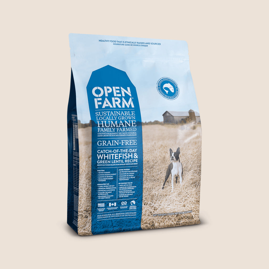 Open Farm Dry Dog Food 4.5 lbs. Open Farm - Catch-of-the-Season Whitefish and Green Lentil - Grain-Free Dog Food