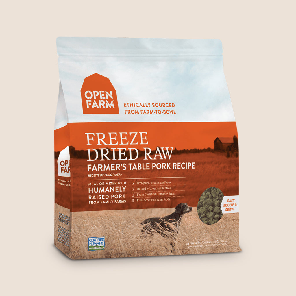 Open Farm Raw Dog Food Default Title Open Farm Freeze-Dried Raw Dog Food - Farmer's Table Pork Recipe