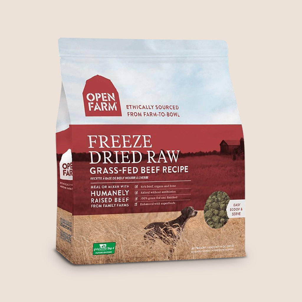 Open Farm Raw Dog Food Open Farm Freeze-Dried Raw Dog Food - Grass-Fed Beef Recipe
