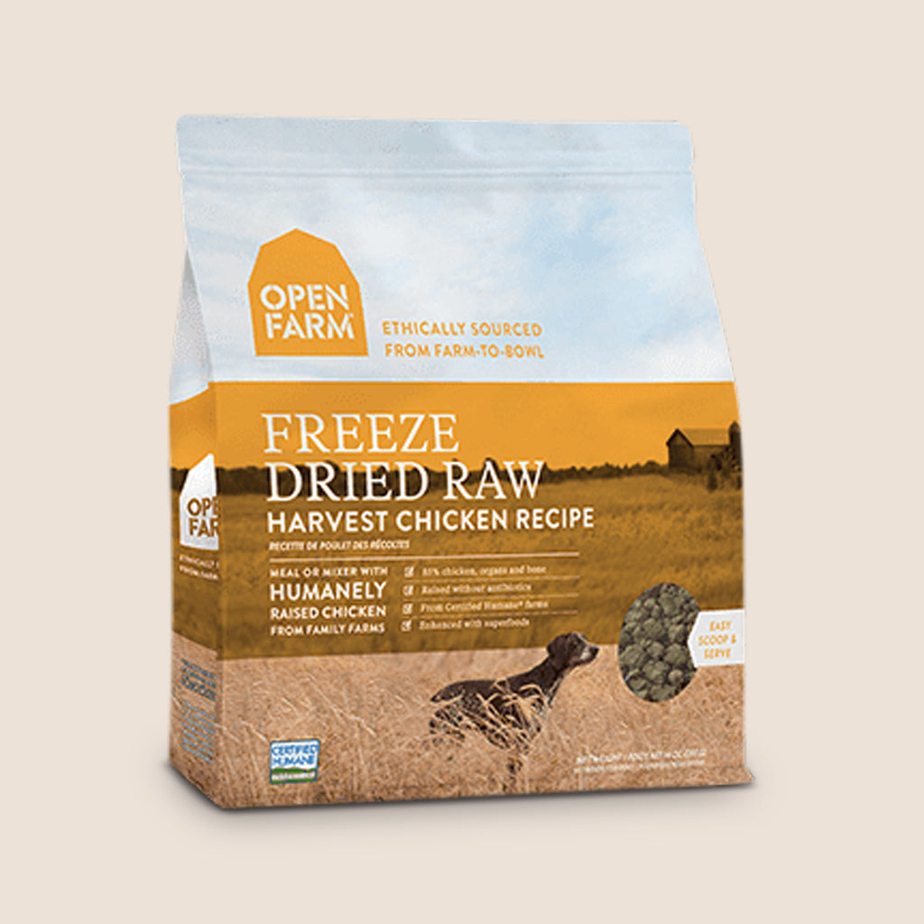 Open Farm Raw Dog Food Open Farm Freeze-Dried Raw Dog Food - Harvest Chicken Recipe