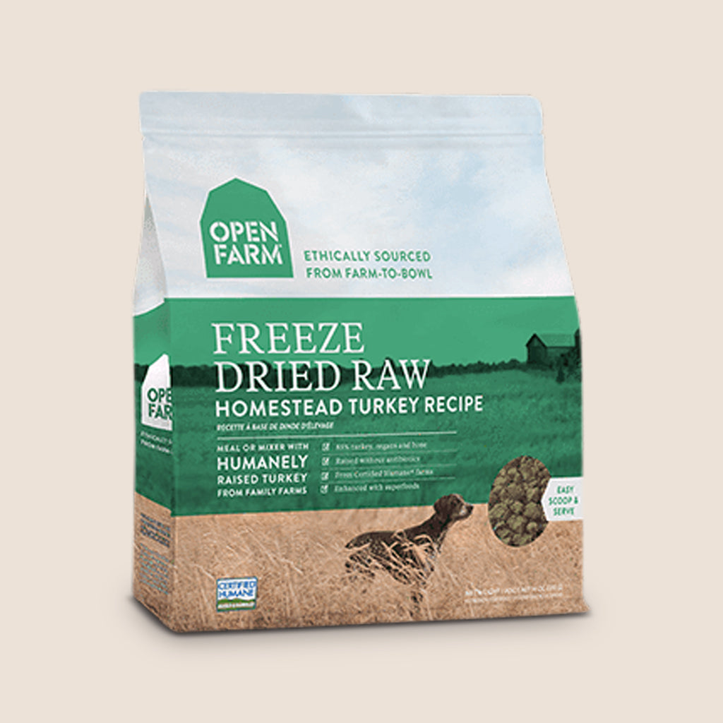Open Farm Raw Dog Food Open Farm Freeze-Dried Raw Dog Food - Homestead Turkey Recipe