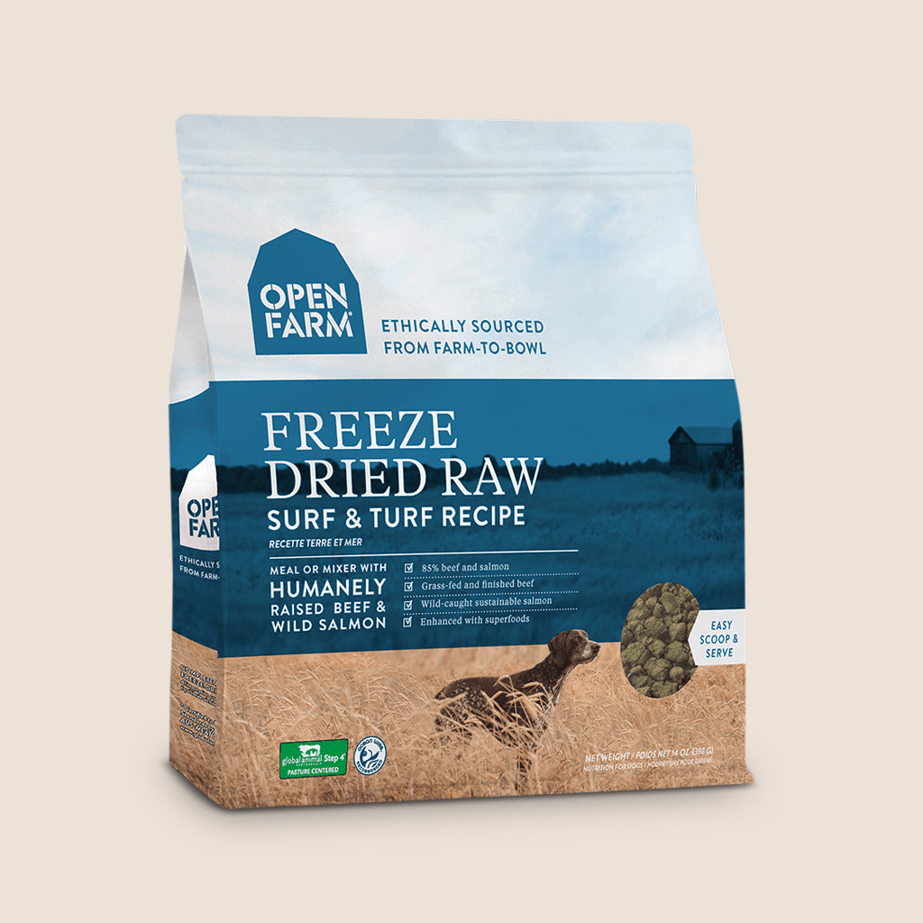 Open Farm Raw Dog Food Open Farm Freeze-Dried Raw Dog Food - Surf and Turf Recipe