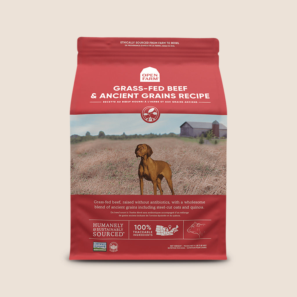 Open Farm Dry Dog Food Open Farm Grass Fed Beef & Ancient Grains Dry Dog Food