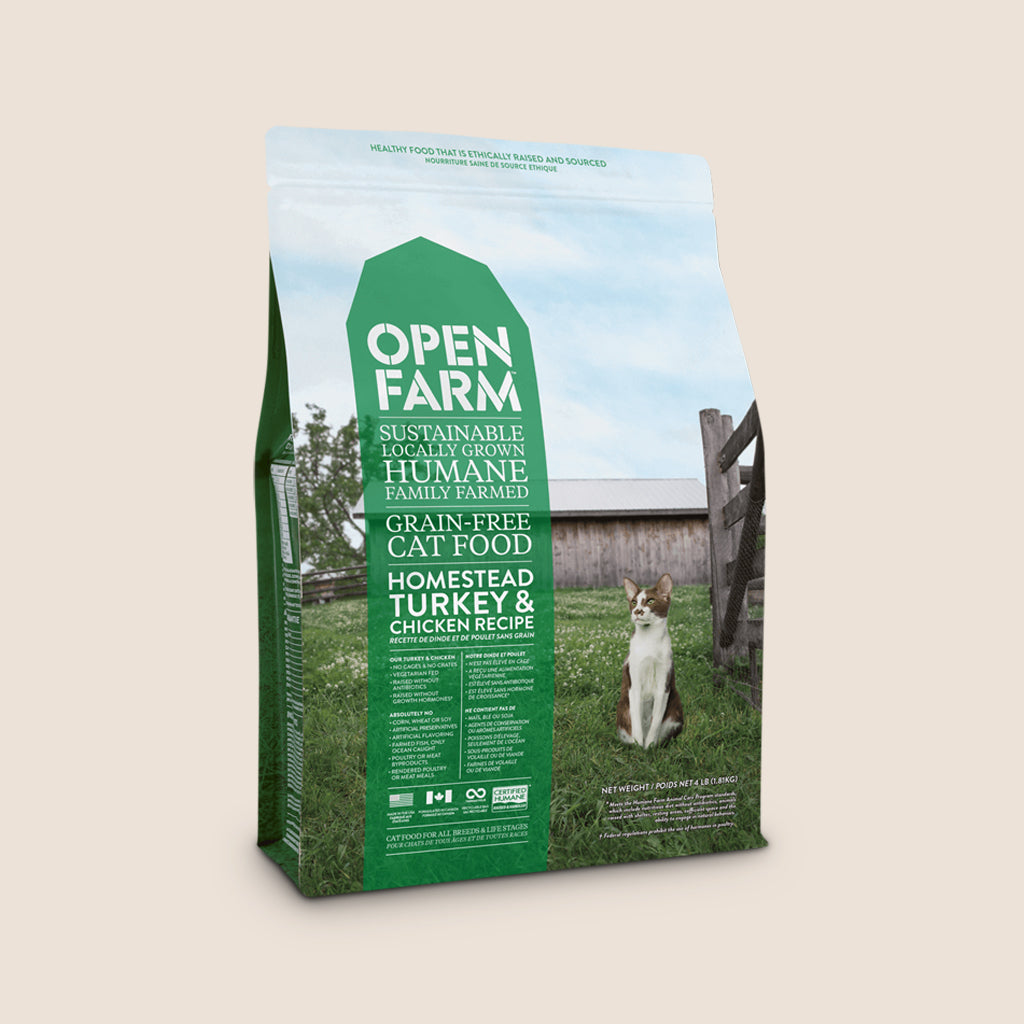 Open Farm Dry Cat Food Open Farm Homestead Turkey and Chicken Grain Free Cat Food - 4 Pound Bag