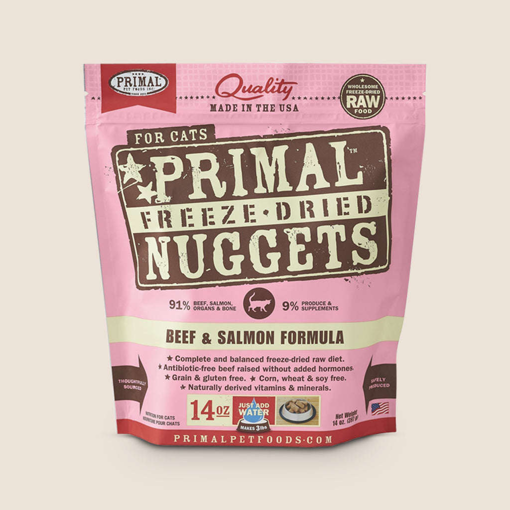 Primal Raw Cat Food Primal Beef & Salmon - Freeze Dried - 14 Ounce