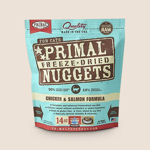 Primal Raw Cat Food Primal Chicken & Salmon - Freeze-Dried Raw Cat Food - 14 Ounce