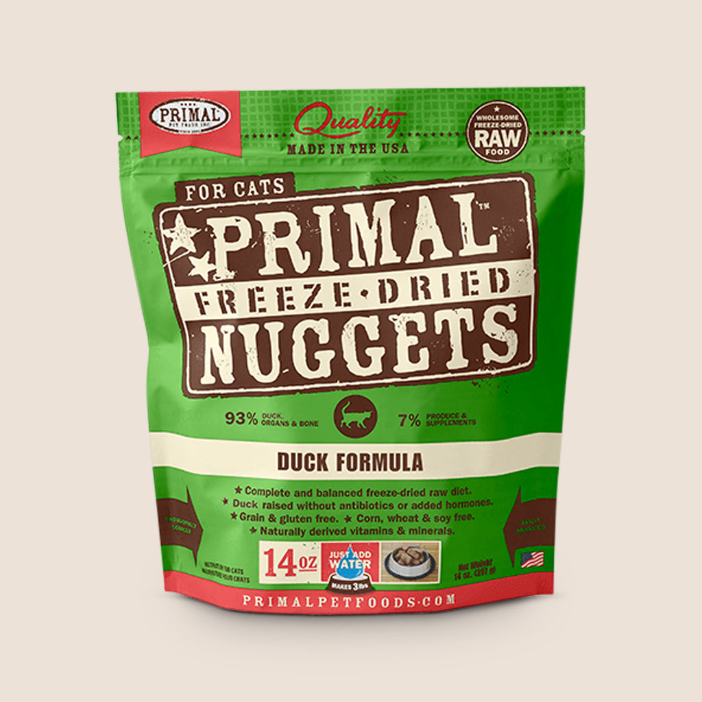 Primal Raw Cat Food Primal Duck - Freeze Dried Raw Cat Food - 14 Ounces