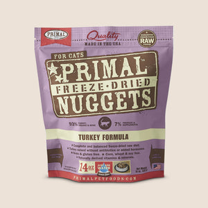 Primal Raw Cat Food Primal Turkey - Freeze Dried - 14 Ounce