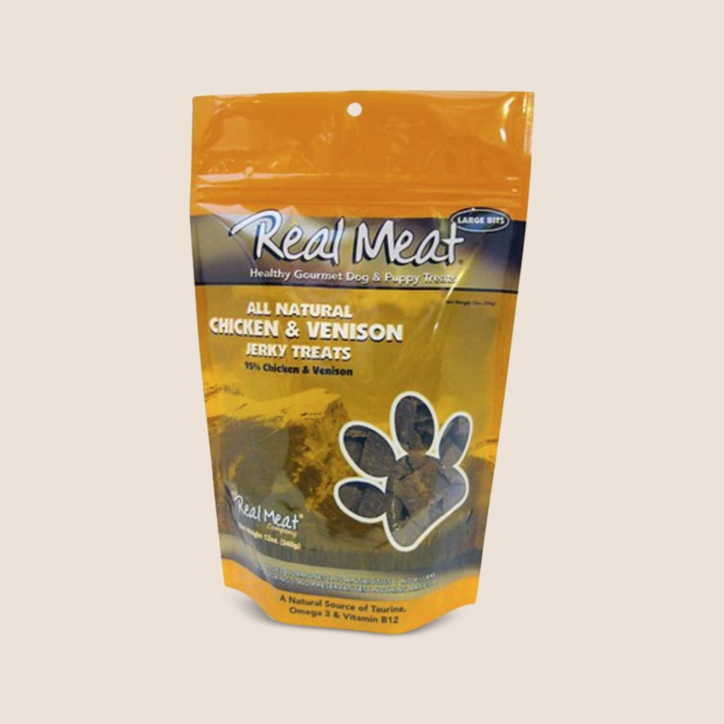 Real Meat Treats Real Meat Chicken & Venison 12oz Treats