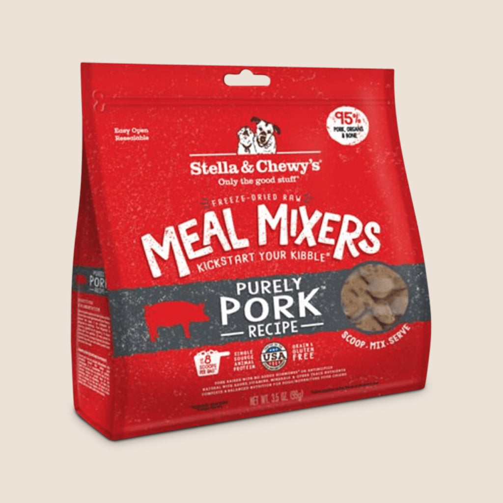 Stella & Chewy's Raw Dog Food Stella & Chewy's Purely Pork Freeze-Dried Meal Mixers