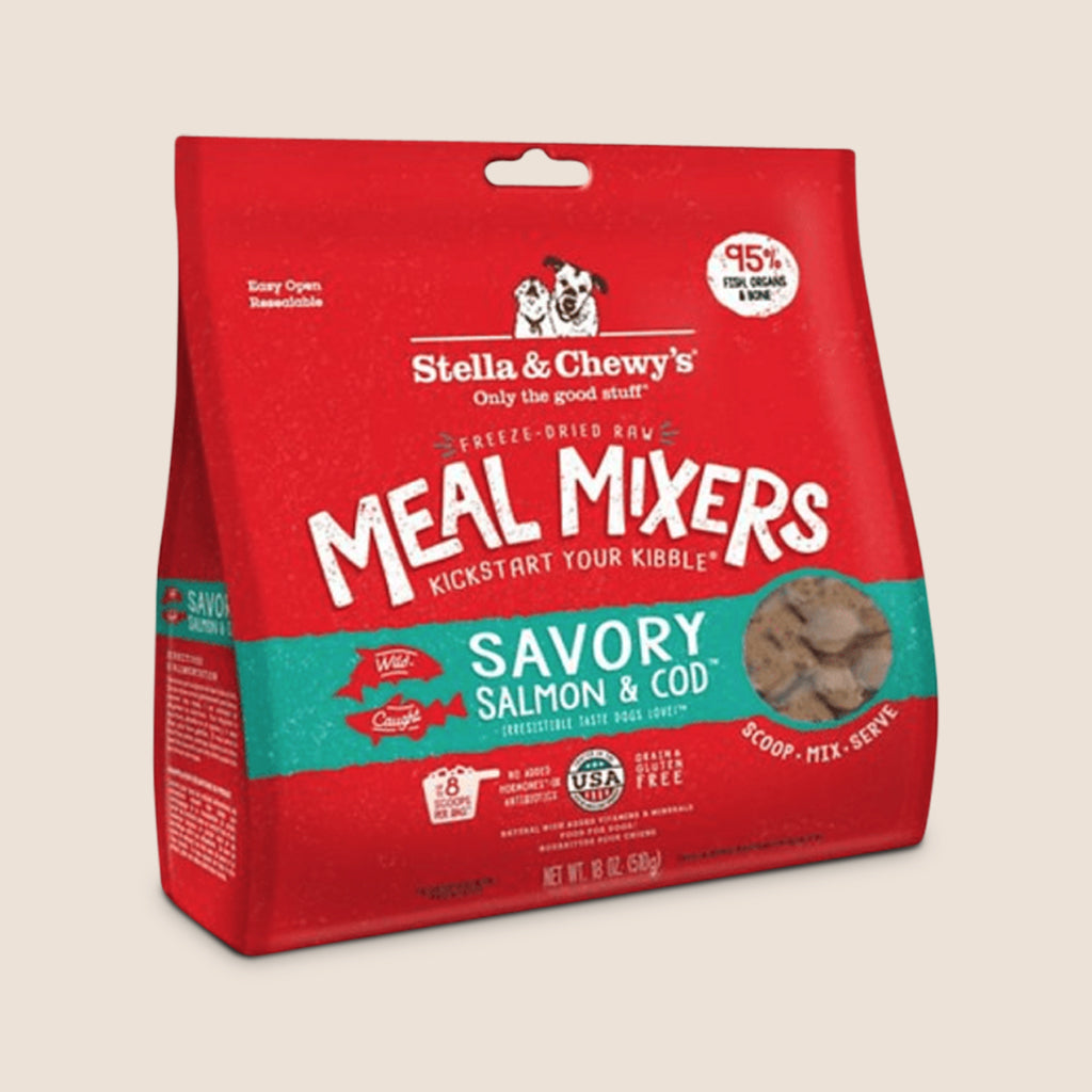 Stella & Chewy's Raw Dog Food Stella & Chewy's Savory Salmon & Cod Freeze-Dried Meal Mixers