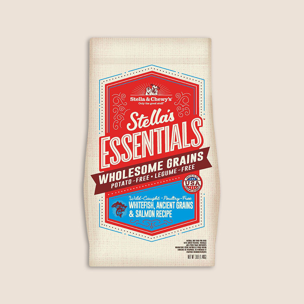 Stella & Chewy's Dry Dog Food Stella's Essentials Wild Caught Whitefish w/Salmon & Ancient Grains Recipe