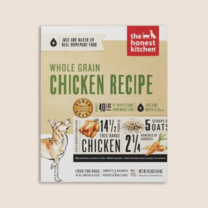 Honest Kitchen Dry Dog Food The Honest Kitchen Whole Grain Chicken Recipe Dehydrated Dog Food - 4 lbs.