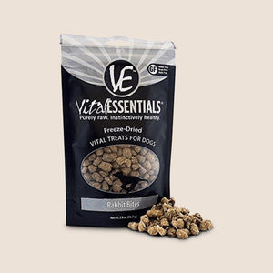 Vital Essentials Treats Rabbit Bites 2oz Vital Essentials Freeze-Dried Dog Treats