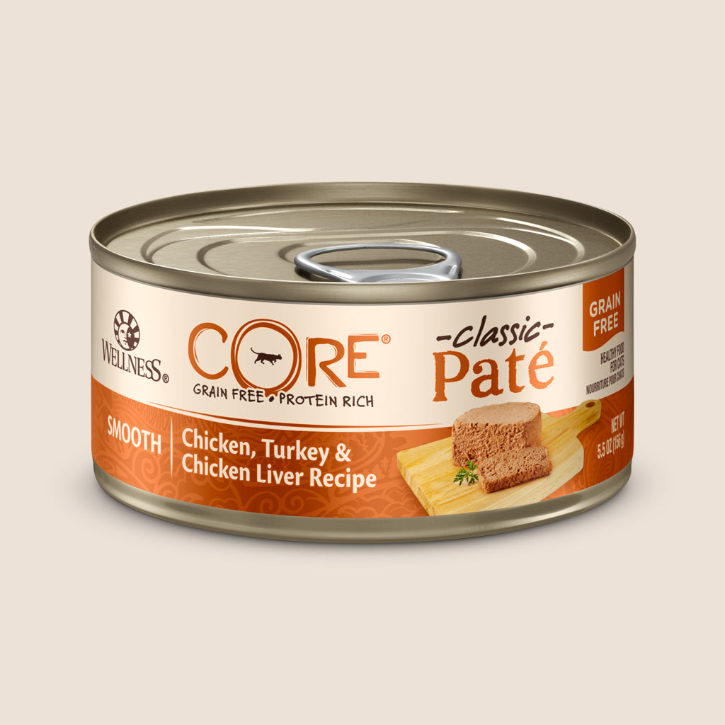 Wellness Cat Food Can Wellness CORE - Chicken, Turkey & Chicken Liver - Grain Free Cat Food 5.5 Ounce Can