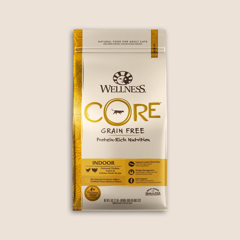 Wellness Dry Cat Food Wellness CORE Indoor Grain Free Cat Food - 5 Pound Bag
