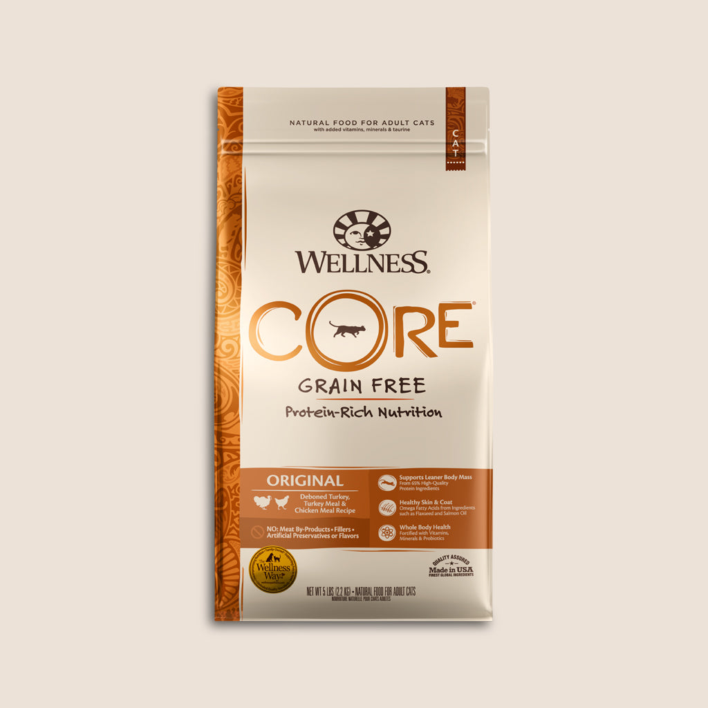 Wellness Dry Cat Food Wellness CORE Original Grain Free Cat Food - 5 Pound Bag