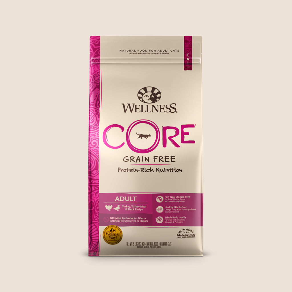 Wellness Dry Cat Food Wellness CORE Turkey and Duck Grain Free Cat Food - 5 Pound Bag