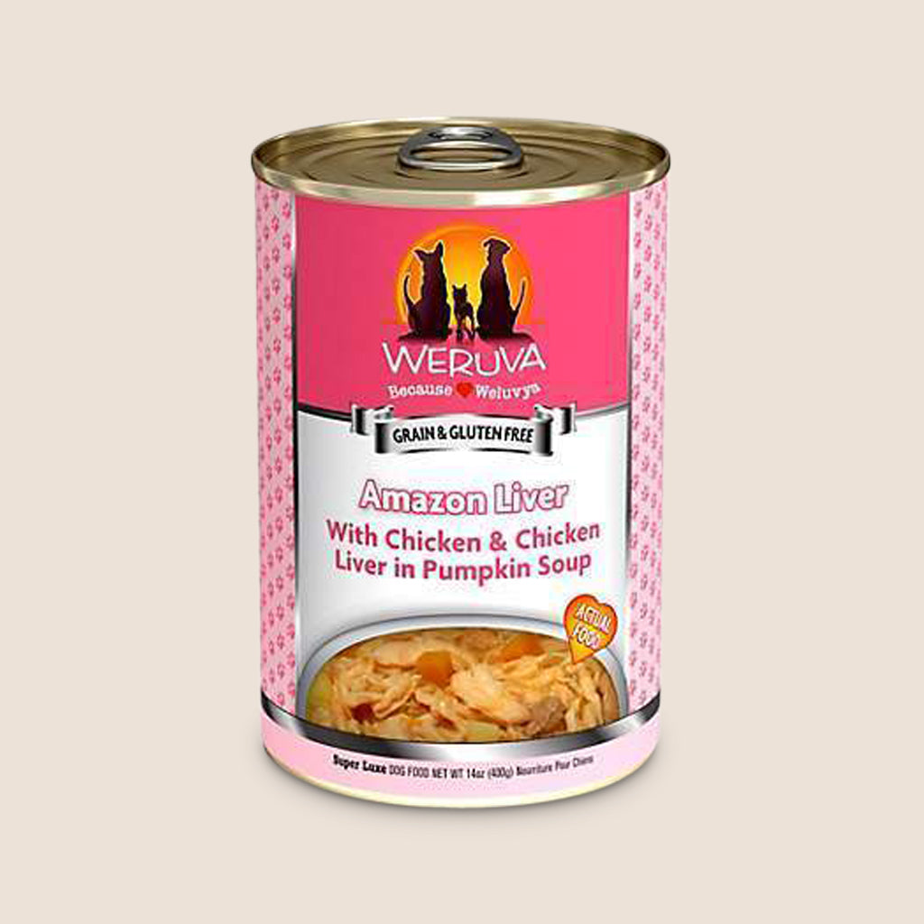 Weruva Canned Dog Food Weruva Amazon Liver with Chicken & Chicken Liver in Pumpkin Soup Grain-Free Canned Dog Food