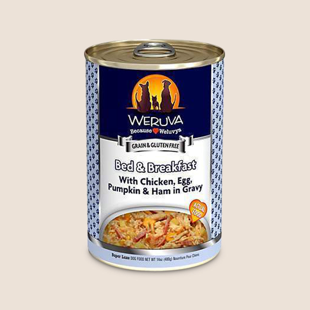 Weruva Canned Dog Food Weruva Bed and Breakfast with Chicken, Eggs, and Pumpkin in Gravy Grain-Free Canned Dog Food