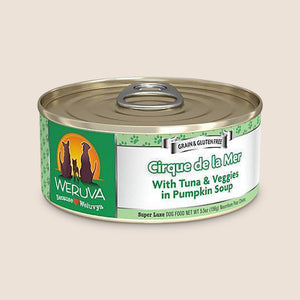 Weruva Canned Dog Food Weruva Cirque de la Mer with Tuna and Veggies in Pumpkin Soup Grain-Free Canned Dog Food