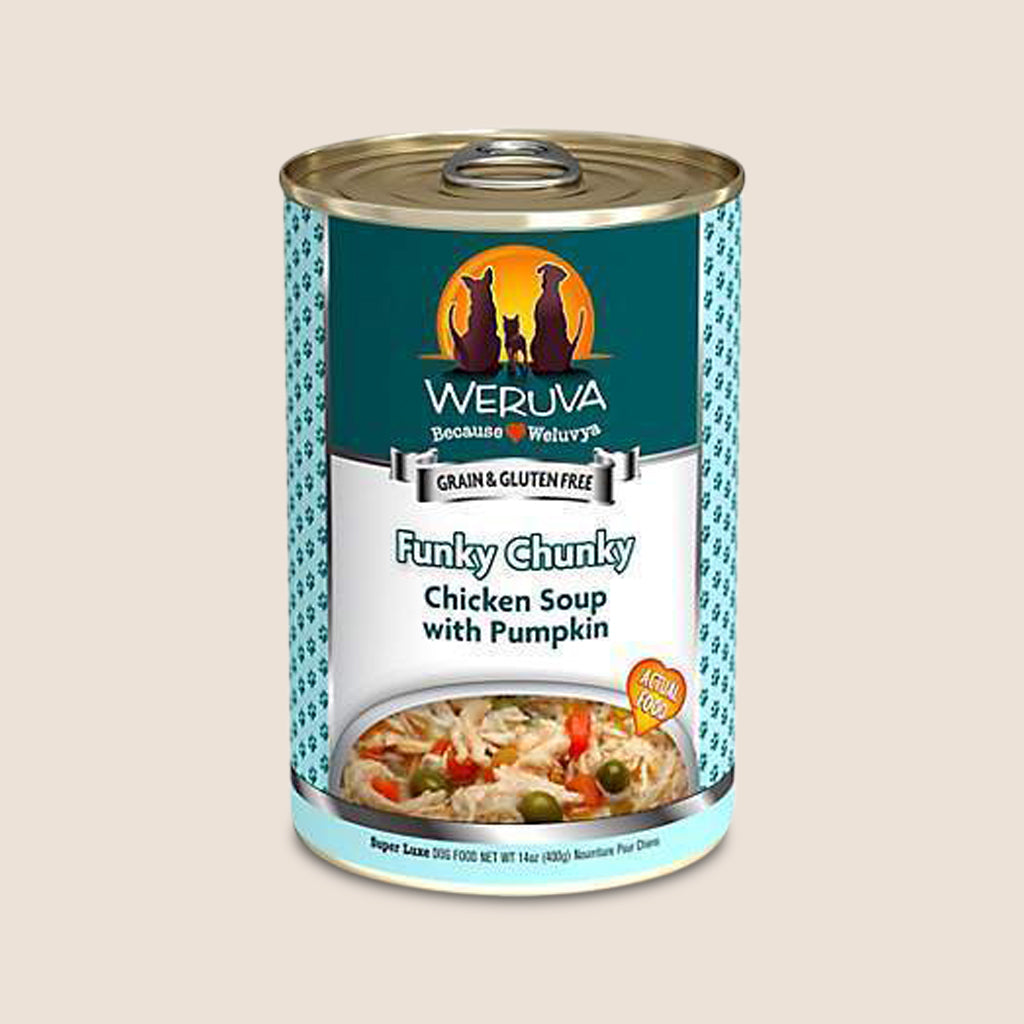 Weruva Canned Dog Food Weruva Funky Chunky Chicken Soup with Pumpkin Grain-Free Canned Dog Food