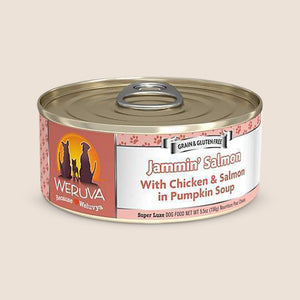 Weruva Canned Dog Food Weruva Jammin' Salmon with Chicken and Salmon in Pumpkin Soup Grain-Free Canned Dog Food