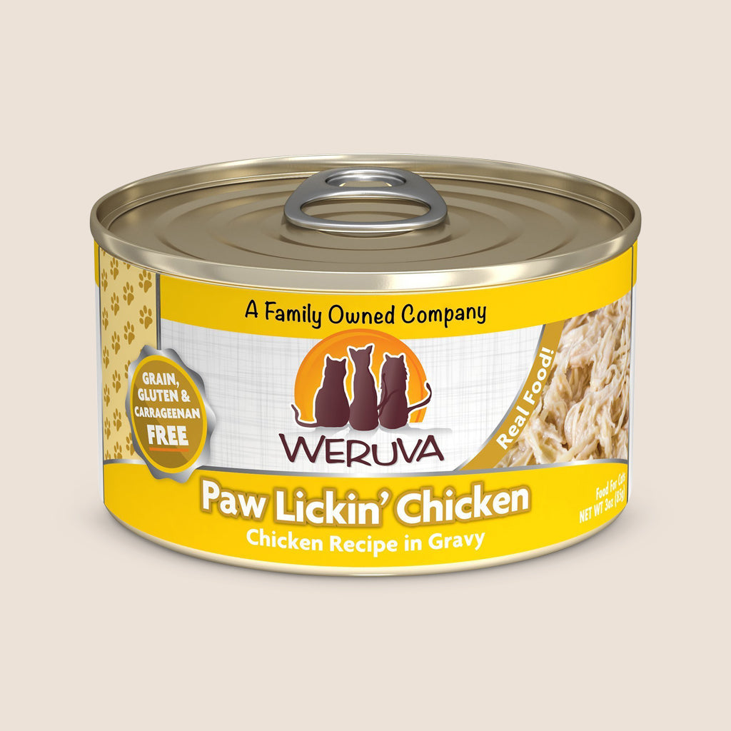 Weruva Cat Food Can Weruva Paw Lickin' Chicken Grain-Free Canned Cat Food