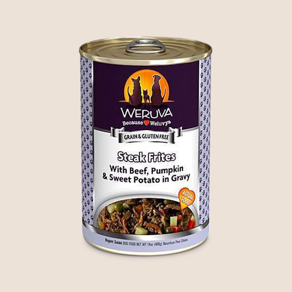 Weruva Canned Dog Food Weruva Steak Frites with Beef, Pumpkin and Sweet Potato in Gravy Grain-Free Canned Dog Food